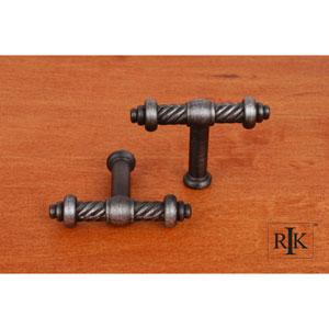 Distressed Nickel Small Twisted Knob