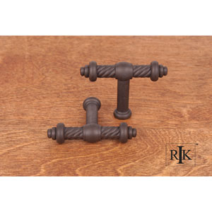 Oil Rubbed Bronze Small Twisted Knob