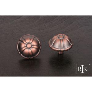 Distressed Copper Large Petal Knob
