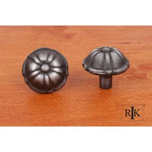 Distressed Nickel Small Petal Knob