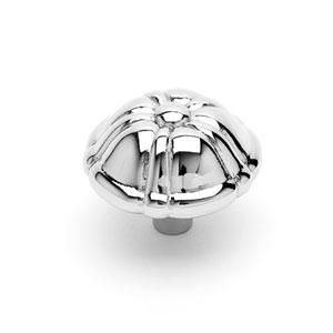 Polished Nickel Small Petal Knob