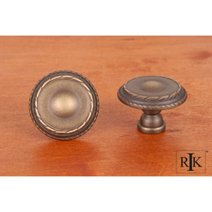Antique English Large Double Roped Edge Knob