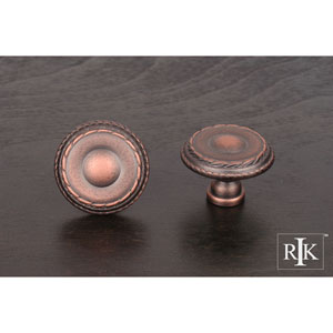 Distressed Copper Large Double Roped Edge Knob