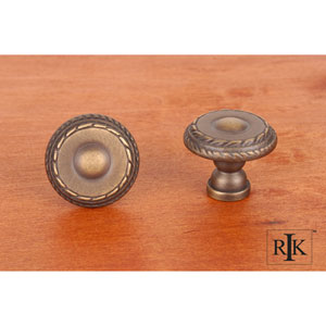 Antique English Small Double Roped Edge Knob