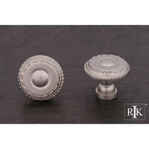 Pewter Small Double Roped Edge Knob
