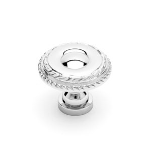 Polished Nickel Small Double Roped Edge Knob
