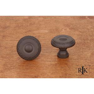 Oil Rubbed Bronze Small Double Roped Edge Knob
