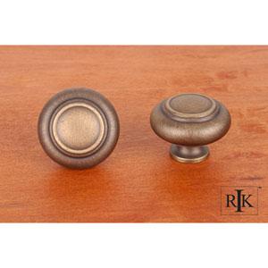 Antique English Large Double Ringed Knob