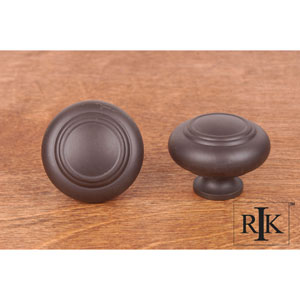 Oil Rubbed Bronze Large Double Ringed Knob