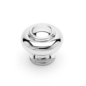 Polished Nickel Small Double Ringed Knob
