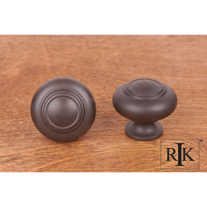 Oil Rubbed Bronze Small Double Ringed Knob