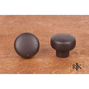 Oil Rubbed Bronze Distressed Heavy Circular Knob