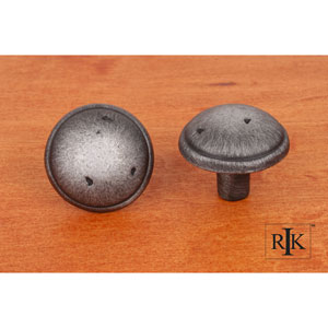 Distressed Nickel Distressed Mushroom Knob with Ring Edge