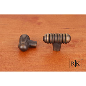 Antique English Distressed Small Ribbed Knob