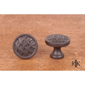 Oil Rubbed Bronze Small Cross-Hatched Knob