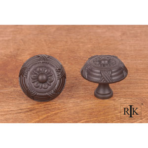 Oil Rubbed Bronze Large Crosses and Petals Knob