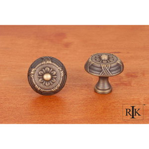 Antique English Small Crosses and Petals Knob