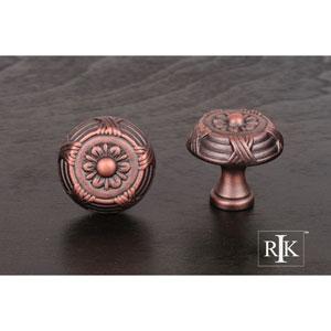 Distressed Copper Small Crosses and Petals Knob