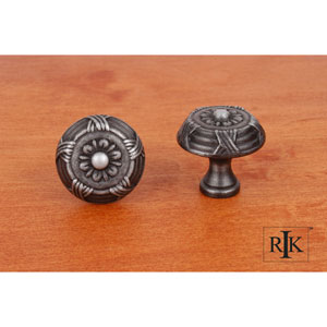 Distressed Nickel Small Crosses and Petals Knob