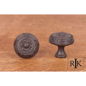 Oil Rubbed Bronze Small Crosses and Petals Knob