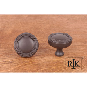 Oil Rubbed Bronze Lines and Crosses Knob