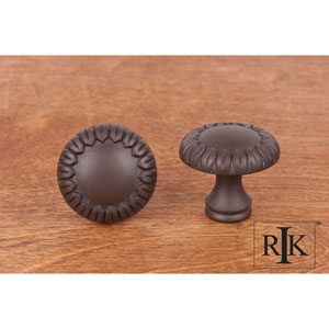 Oil Rubbed Bronze Small Petals at Edge Knob