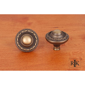 Antique English Big Deco-Leaf Edge Knob