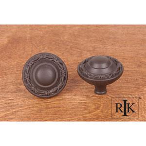 Oil Rubbed Bronze Big Deco-Leaf Edge Knob