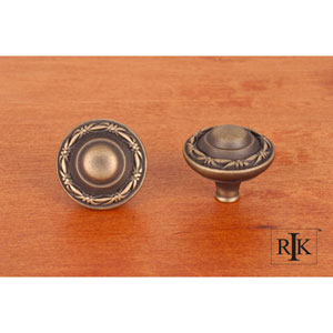 Antique English Small Deco-Leaf Edge Knob