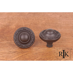 Oil Rubbed Bronze Small Deco-Leaf Edge Knob