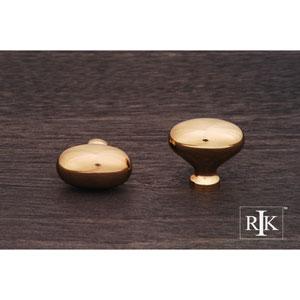 Polished Brass Oval Knob
