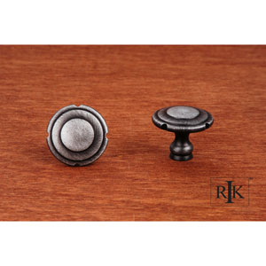 Distressed Nickel Truncated Edge Knob
