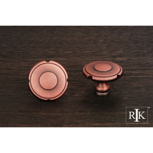 Distressed Copper Truncated Edge Knob
