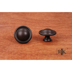 Oil Rubbed Bronze Smooth Dome Knob