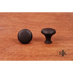 Oil Rubbed Bronze Solid Knob with Flat Edge
