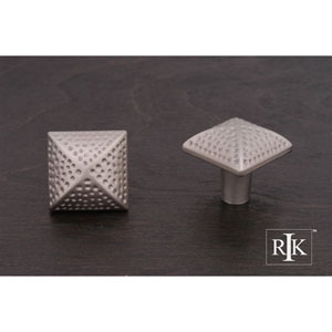 Pewter Square Knob with Divet Indents