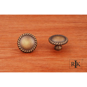 Antique English Plain Knob with Rope at Edge