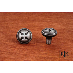 Distressed Nickel Solid Four Petal Knob