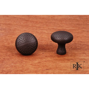 Oil Rubbed Bronze Solid Round Knob with Divet Indents