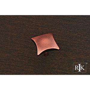 Distressed Copper Plain Knob with Four Curves