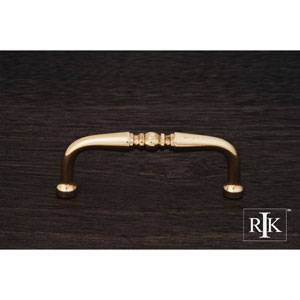 Polished Brass Decorative Curved Pull