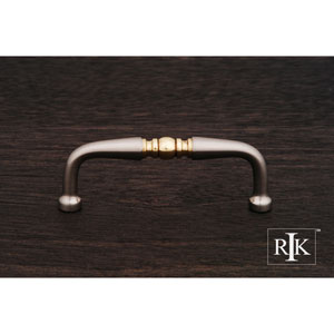 Pewter and Brass Decorative Curved Pull