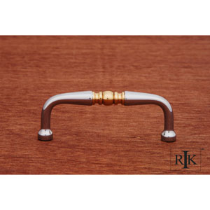 Chrome and Brass Decorative Curved Pull
