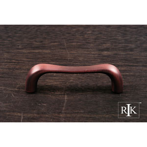 Distressed Copper Contemporary Bent Middle Pull