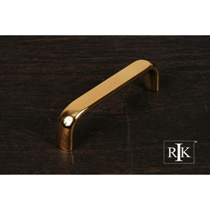 Polished Brass Smooth Rectangular Pull
