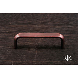 Distressed Copper Smooth Rectangular Pull