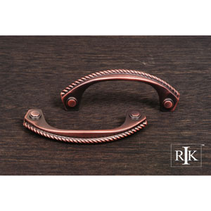 Distressed Copper Rope Bow Pull