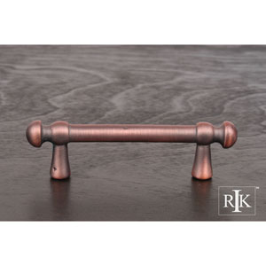 Distressed Copper Distressed Decorative Rod Pull