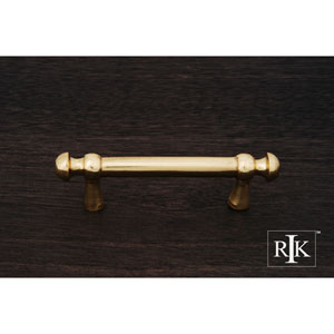Polished Brass Distressed Decorative Rod Pull