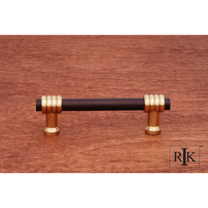 Oil Rubbed Bronze and Brass Two Tone Swirl Pull